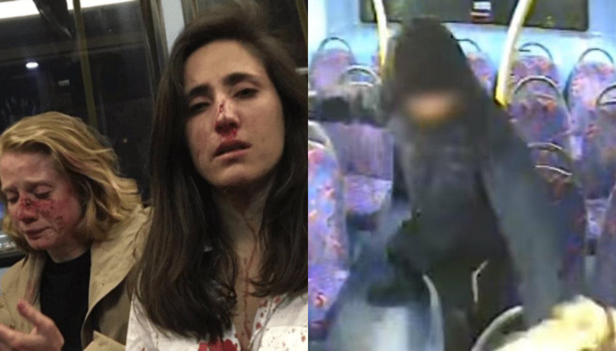 Video golpiza pareja lesbianas autobús