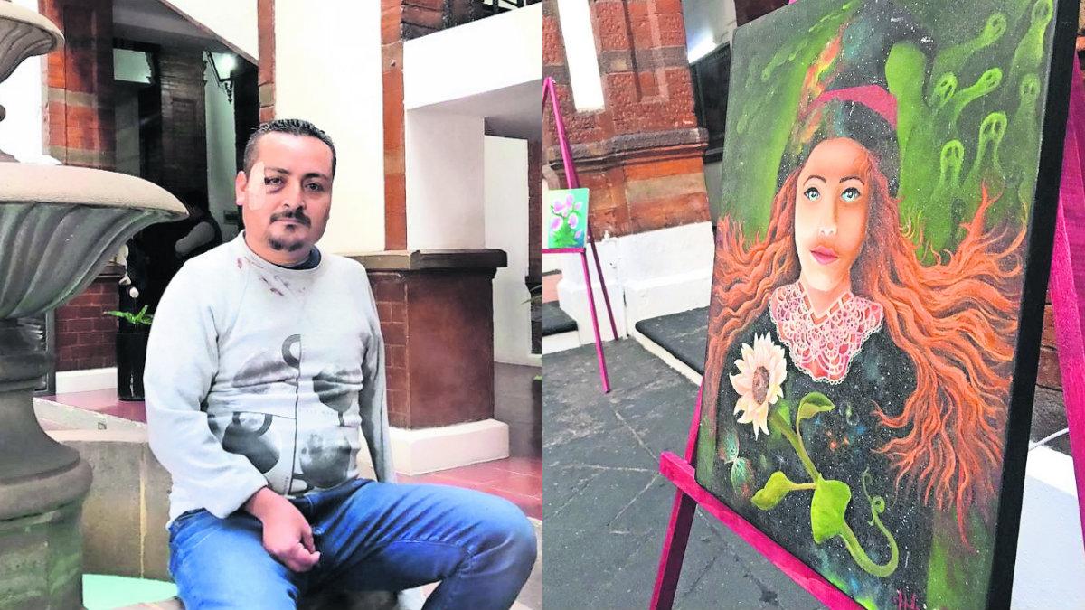 Jesús Ángel Hernández atrofia muscular pintor