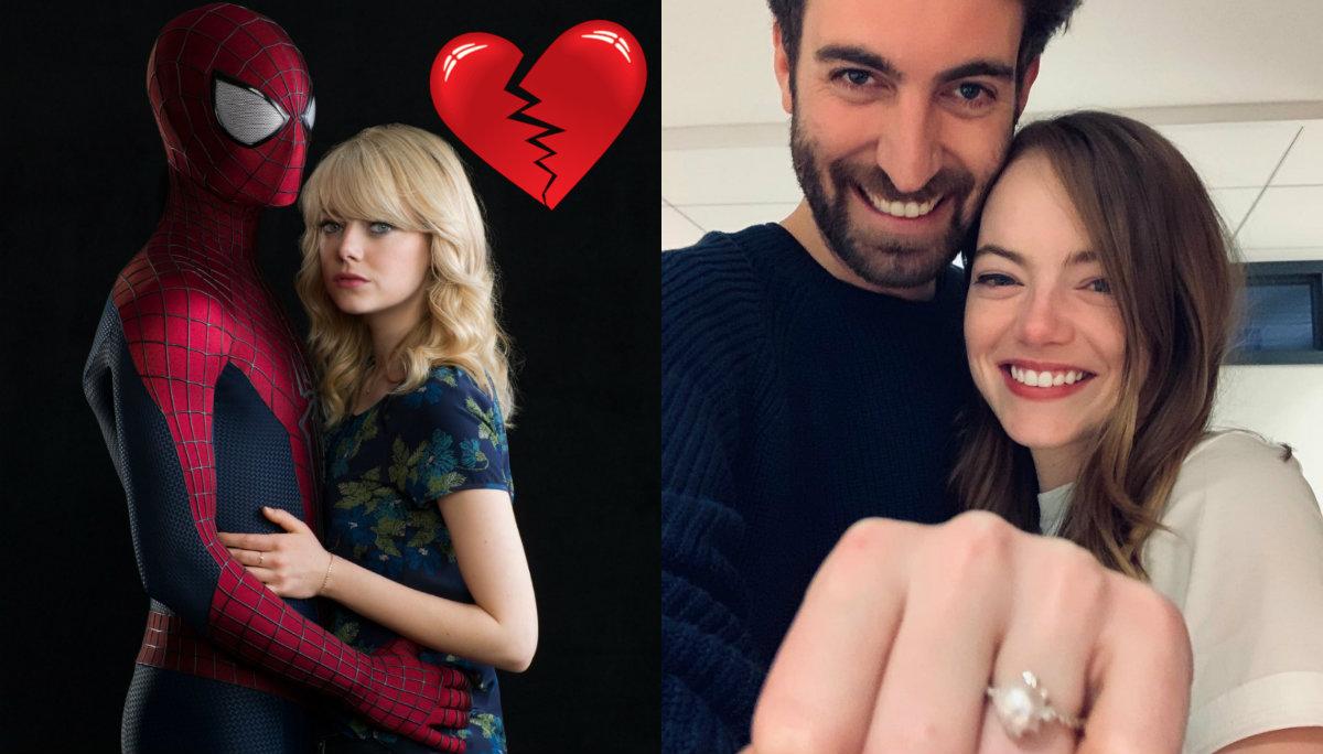 Emma Stone anillo compromiso
