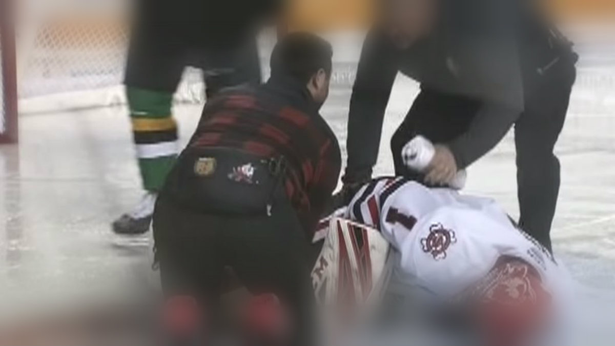 accidente jugador hockey