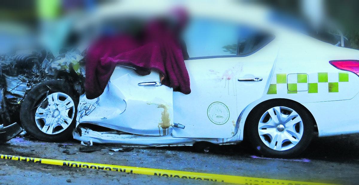 choque taxi auto particular muertos ocoyoacac