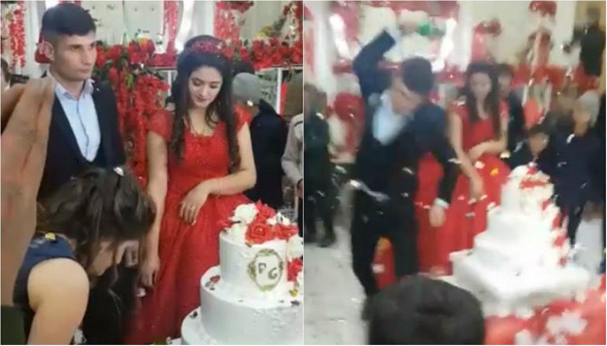 video boda novio violento