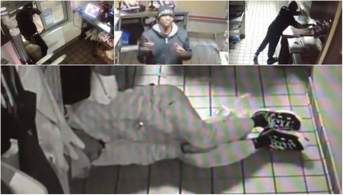 Ladrón se mete a robar a restaurante, le da tiempo de comer y hasta de dormir