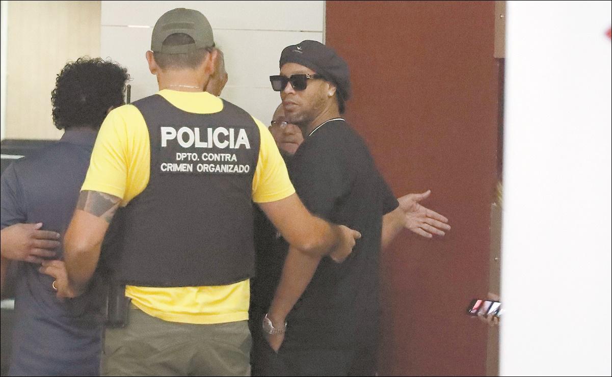 Le niegan a Ronaldinho el arresto domiciliario