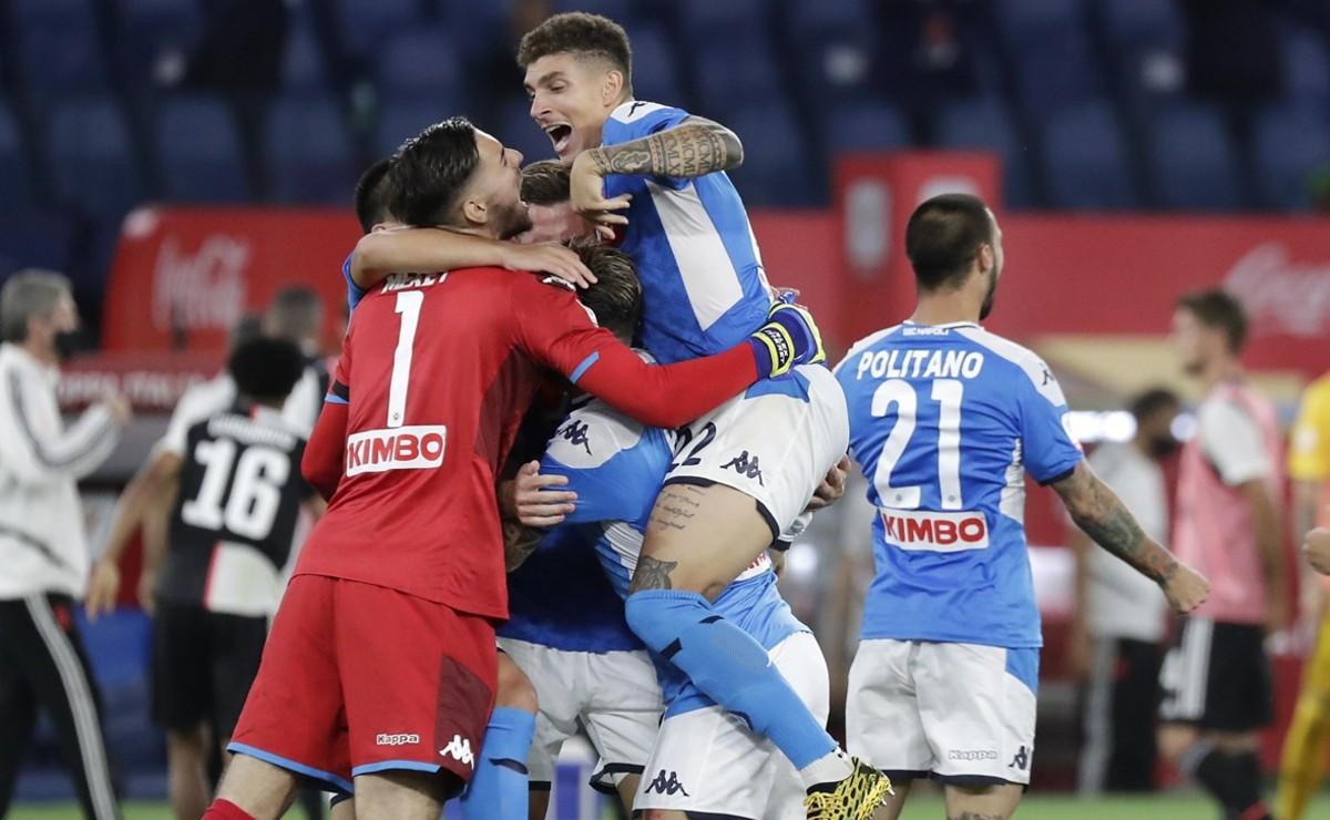 Nápoli se corona campeón de la Copa Italia al vencer al Juventus Turín sin Hirving Lozano