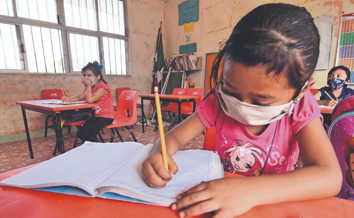 Comunidad de Campeche regresa a clases presenciales, pues no registra ningún caso de Covid-19