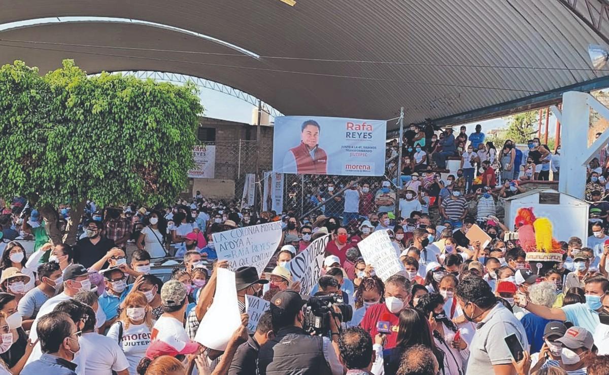 Candidatos arrancan campañas electorales y salen a las calles a pedir el voto, en Morelos