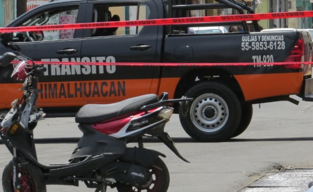 Mortal accidente en motoneta deja un muerto y una herida en Chimalhuacán, Edomex