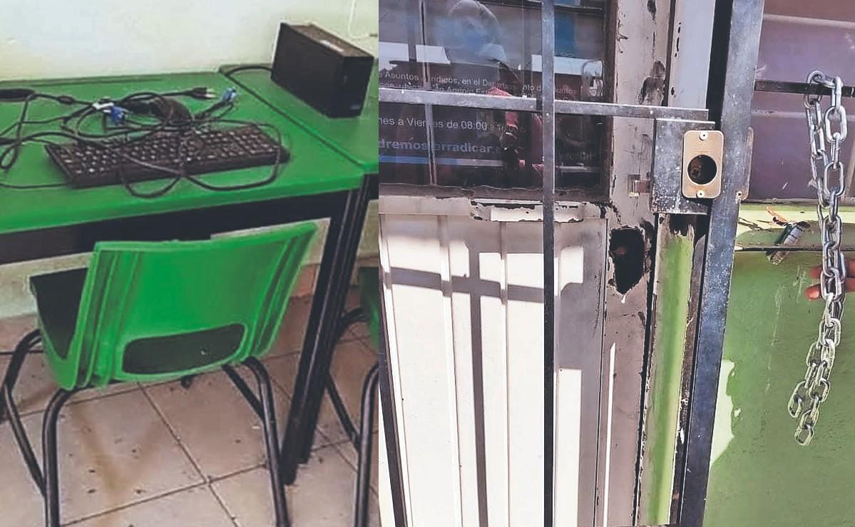 Ladrones aprovechan las clases en línea para saquear una escuela secundaria, en el Edomex