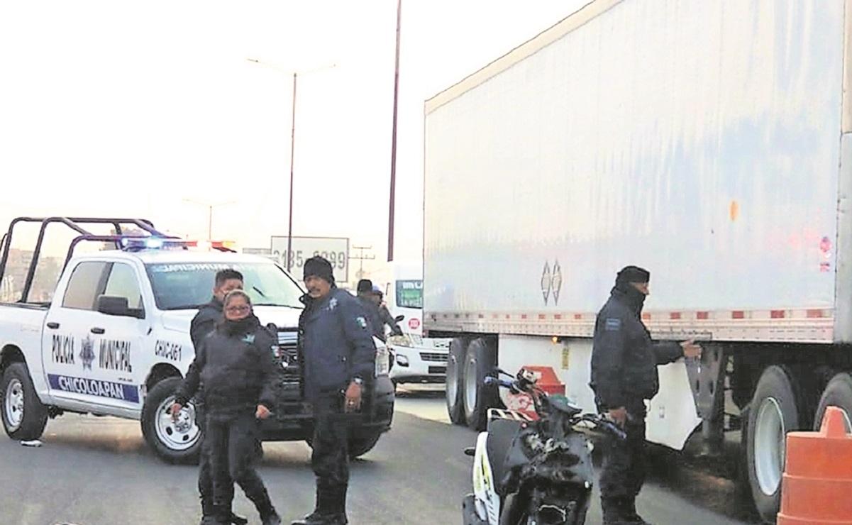 Biker muere tras derrapar en la México-Texcoco, se golpeó la cabeza al caer al pavimento