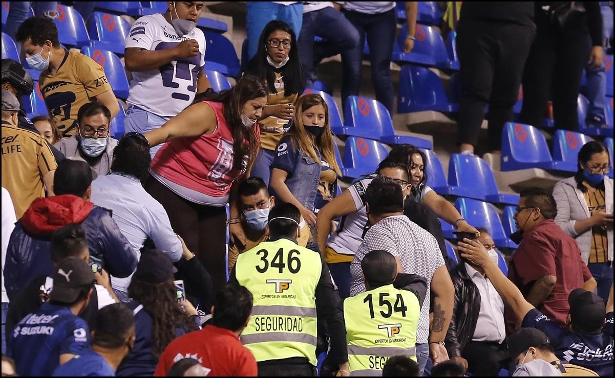 Identifican a seguidor de Pumas que agredió a mujer en el estadio Cuauhtémoc