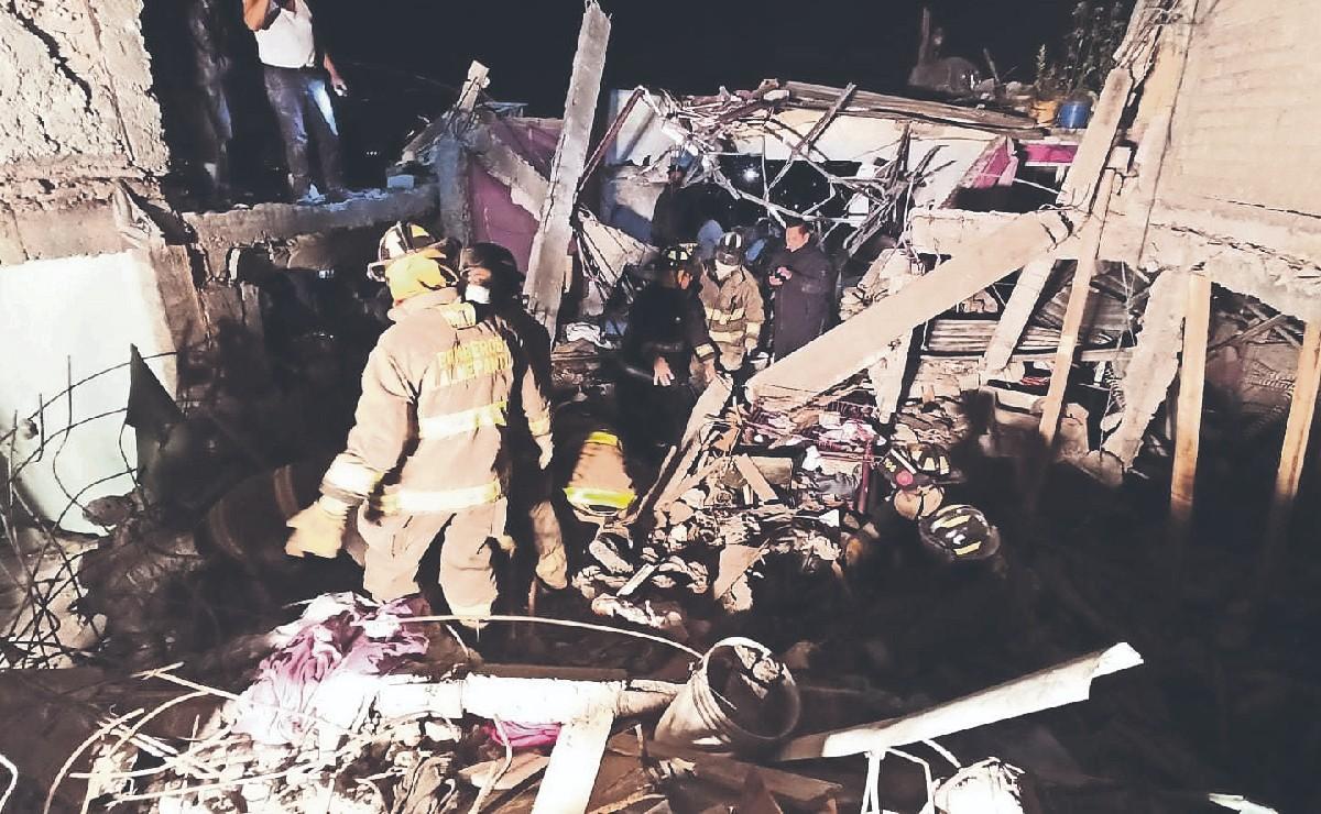 Fuga de gas hace pedazos una vivienda en Tlalnepantla, familia entera quedó atrapada