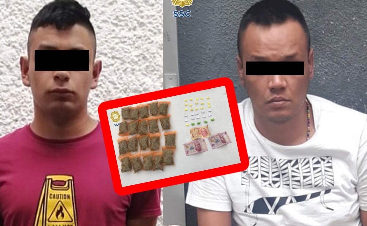 Atoran a dos por asalto a cuentahabiente en CDMX, los agarran vendiendo droga