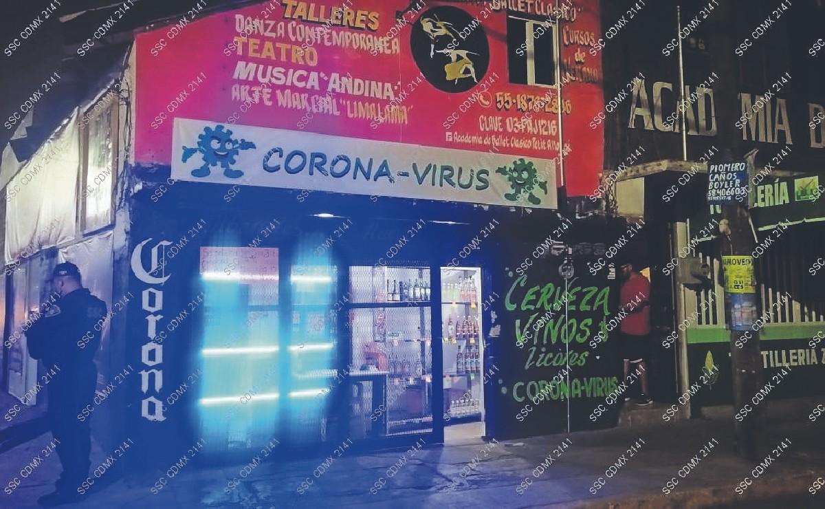 """Encuentran a empleada de vinatería """"Corona-virus"""" con balazos en pecho y cara, en Iztapalapa"""