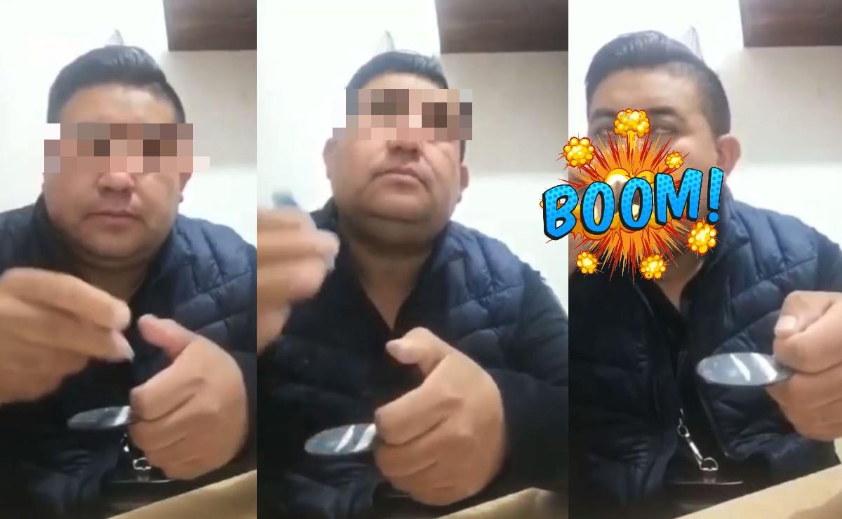 Exhiben video de director de Seguridad Pública en Edomex inhalando un polvo blanco