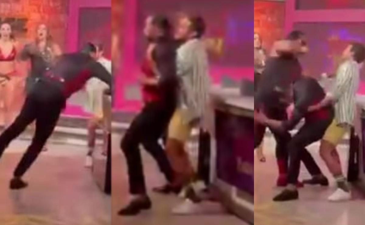 Pirata Morgan da brutal golpiza a conductores de 'Hoy' tras nuevo concurso, filtran video