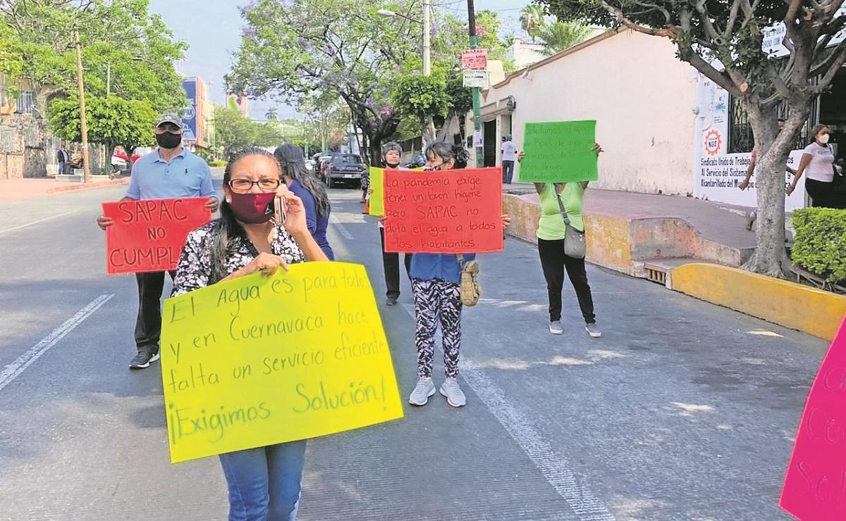 Continúan protestas por falta de agua en Morelos, tienen 2 meses sin el vital líquido