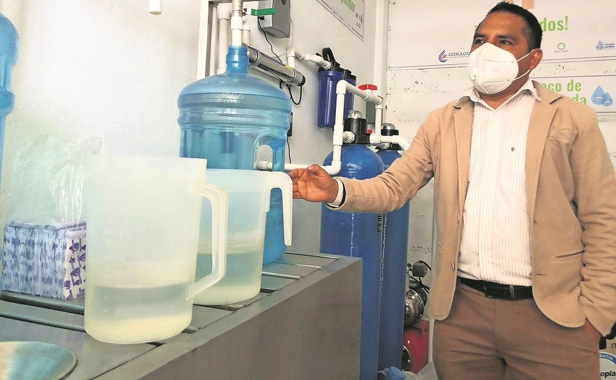 Instalan sistema de recolección y purificación de agua de lluvia en escuela del Edomex