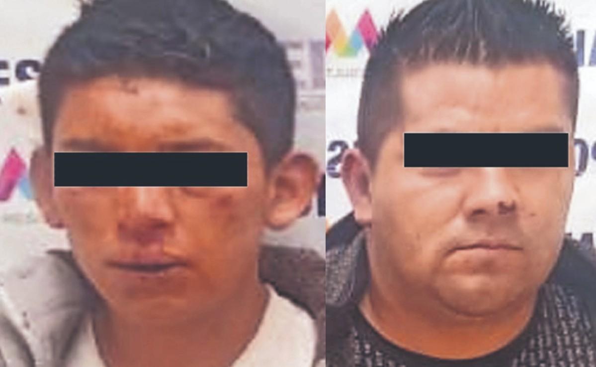 Apañan a asaltantes después de darle baje con 3 mil pesos a un peatón, en Edomex
