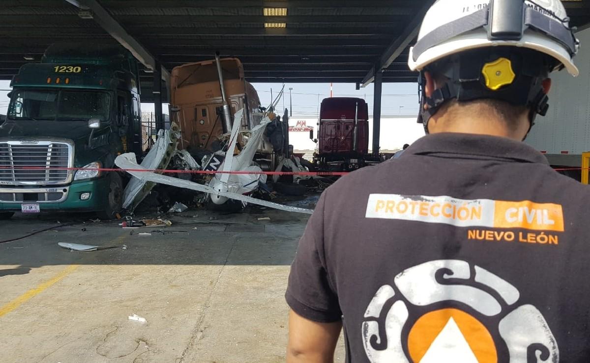Cae avioneta en Nuevo León y mueren todos sus ocupantes, la mañana de este jueves