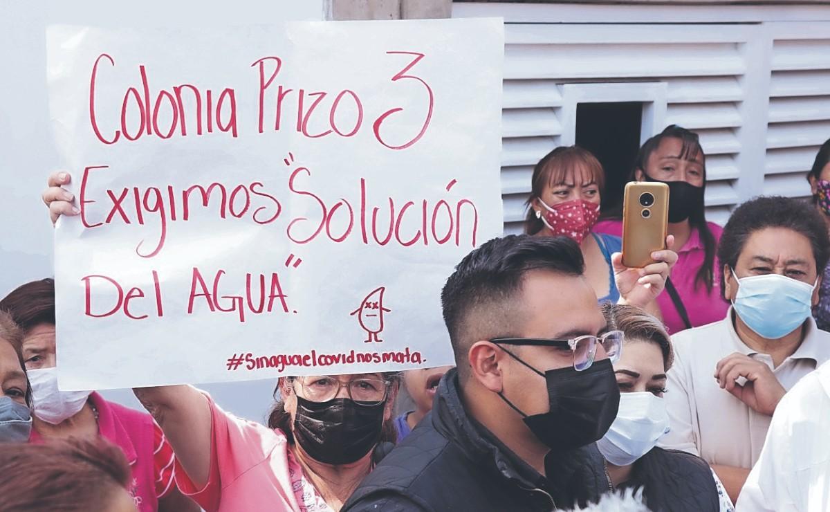 Reclaman que no les cae ni gota de agua desde la construcción de cárcamo, en Ecatepec