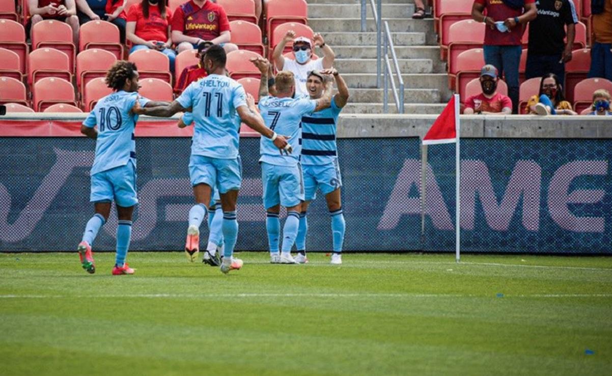 Pulido hace su primer gol de la temporada con el Kansas City