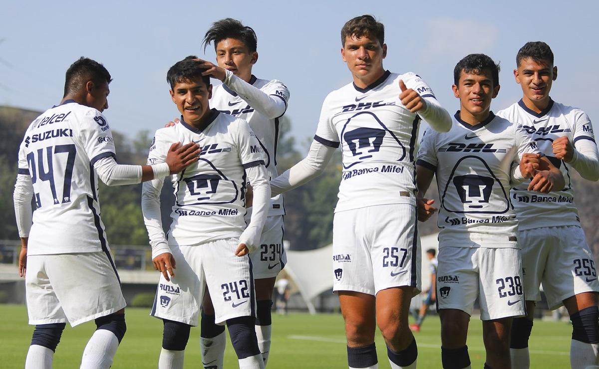 Pumas Sub-17 golea 8-2 al América
