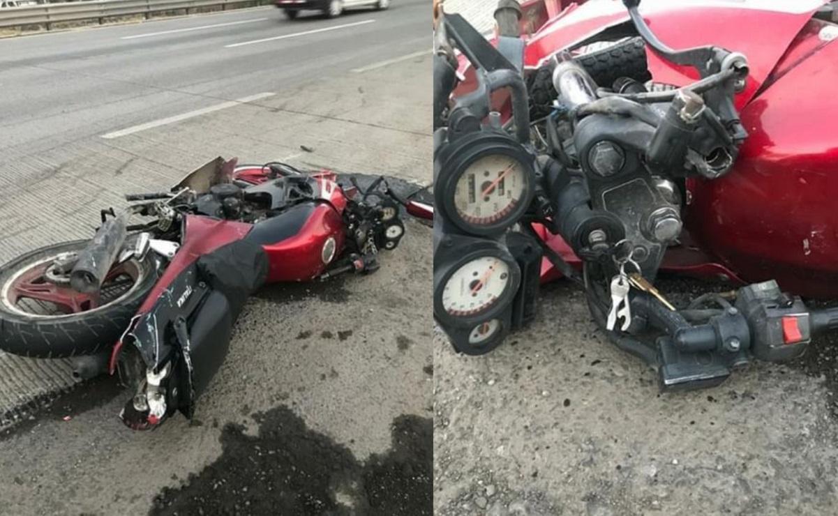 Tras ser arrollado por varios automóviles, muere motociclista en la México-Querétaro