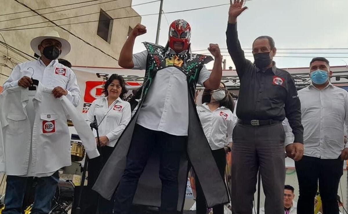 Rey Caballero se quita la máscara en el arranque de su campaña por la presidencia de Neza