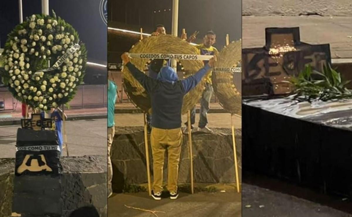 """Barra del América arma """"funeral"""" para Pumas en CU, tras la victoria de las Águilas"""