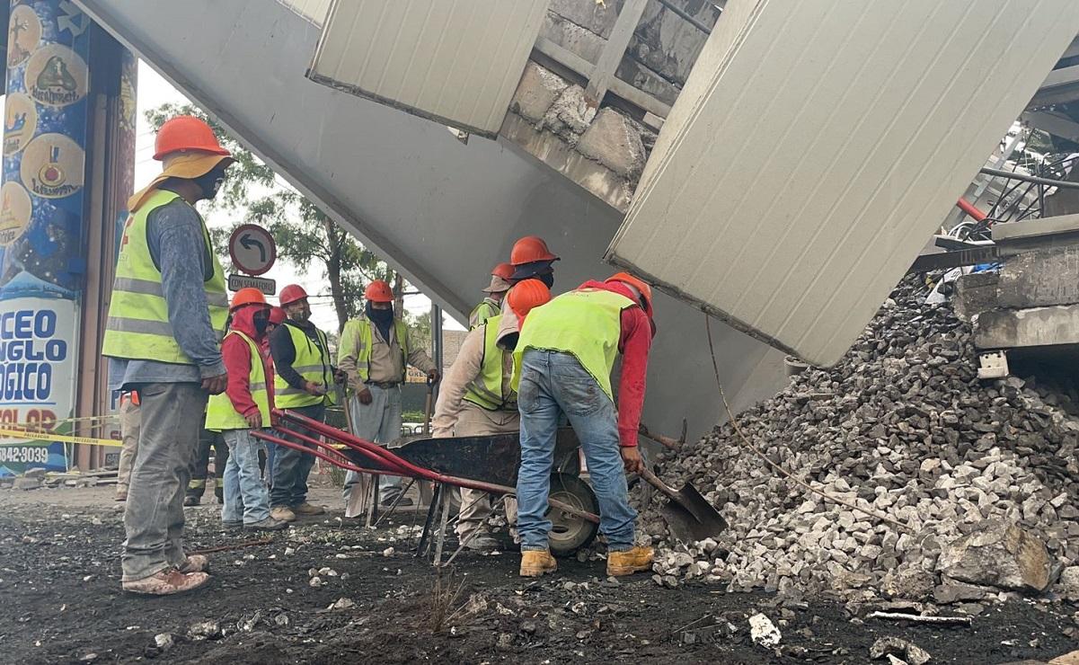 Tras desplome, el Metro de la CDMX inicia trabajos de remoción en Línea 12