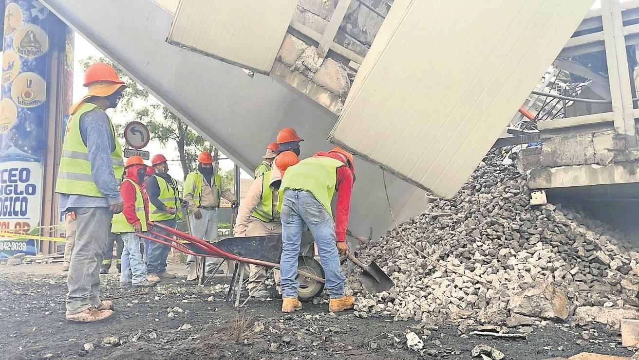 Hasta que se terminen los peritajes se quedarán los escombros de la L12, en CDMX