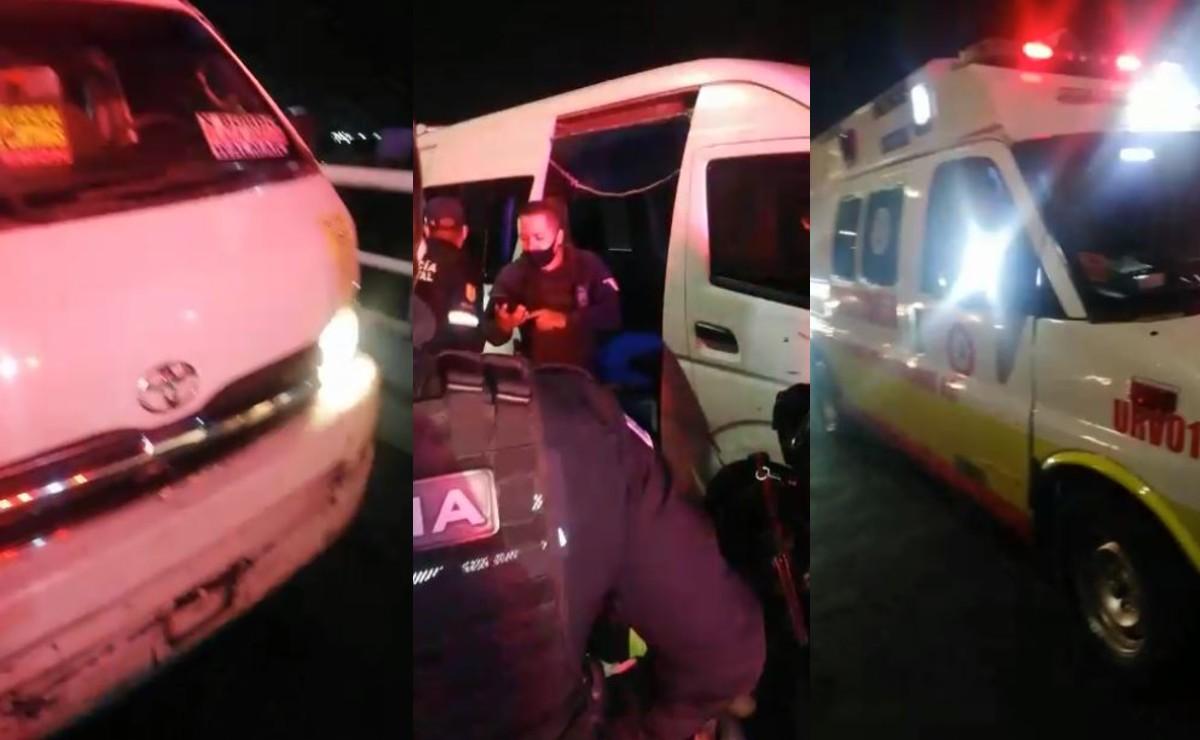 Tres asaltantes desatan balacera en transporte público en Edomex, hay 1 muerto y 3 heridos