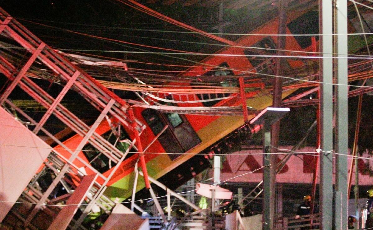 Inician remoción de escombros en sitio donde colapsó tramo elevado de Línea 12 del Metro