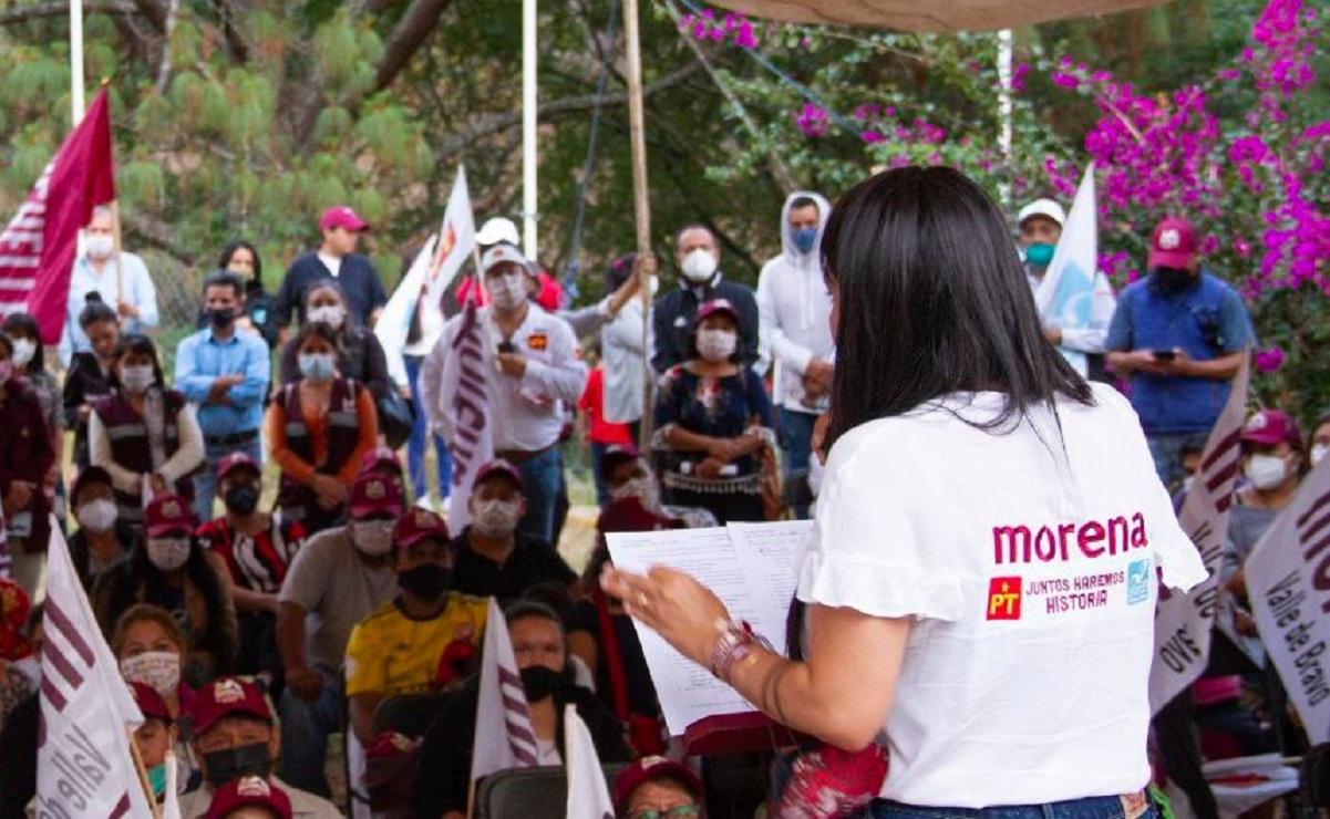 Michelle Núñez promete apoyos económicos a pymes en caso de ganar en Valle de Bravo