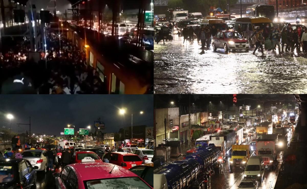Videos y fotos de colapso en CDMX y Edomex por lluvias; Línea A del Metro reanuda servicio