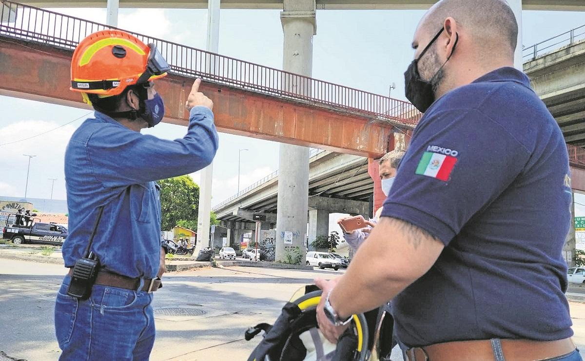 Con ayuda de un dron protección civil de Morelos revisa puentes, piden dar mantenimiento