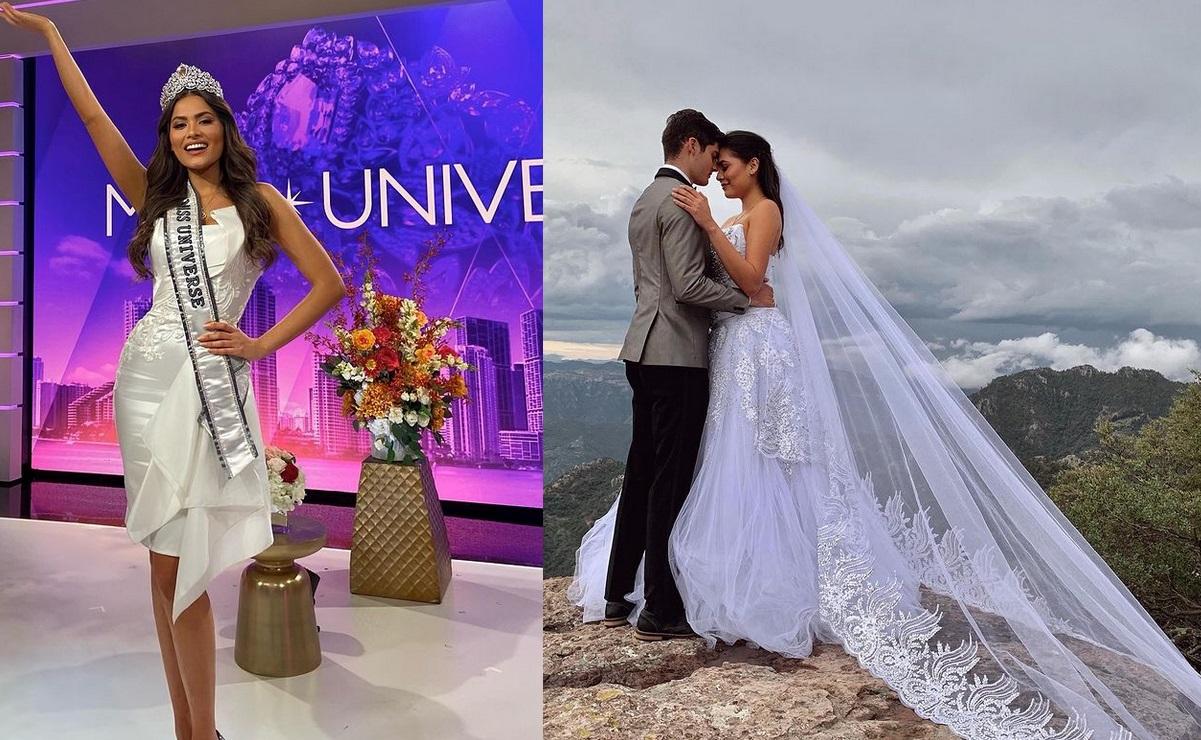 Foto de Andrea Meza vestida de novia en redes sociales causa polémica, ella explica todo