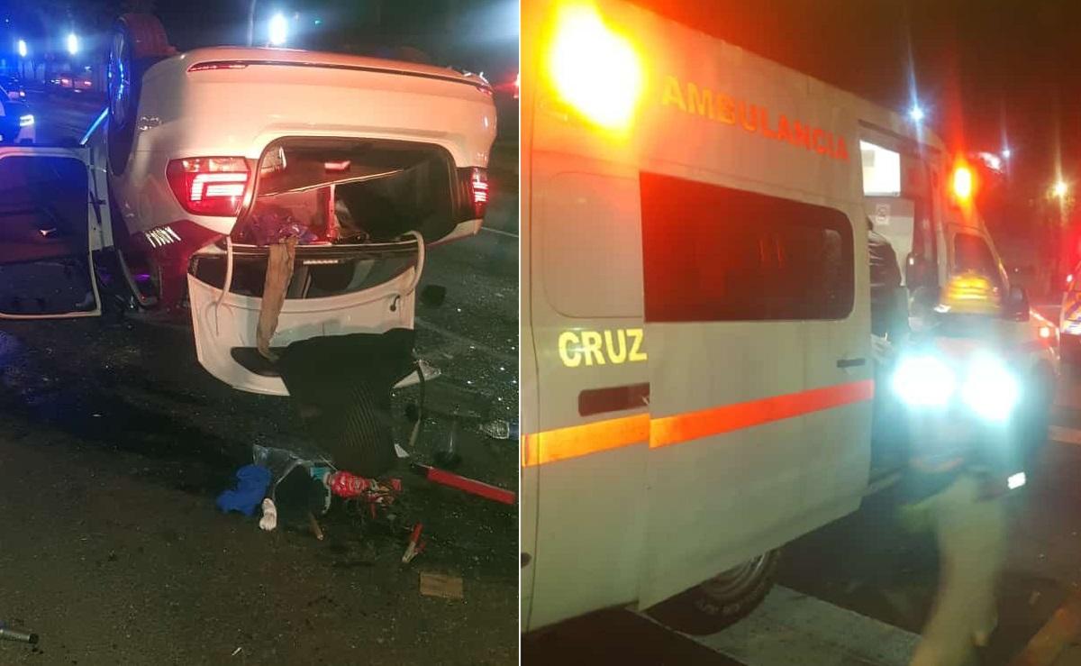Taxi choca con auto en avenida Constituyentes de la CDMX, hay dos lesionados