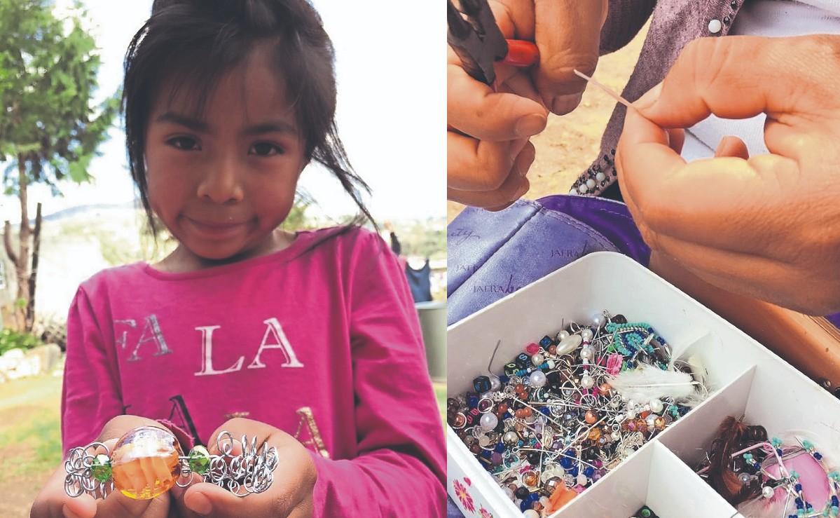 Mujeres mazahuas aprenden a hacer piezas de alto valor y ahora buscan vender su catálogo