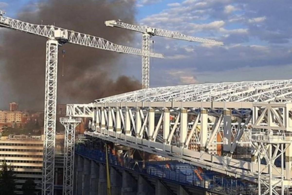 Captan en video incendio del Estadio Santiago Bernabéu, casa del Real Madrid