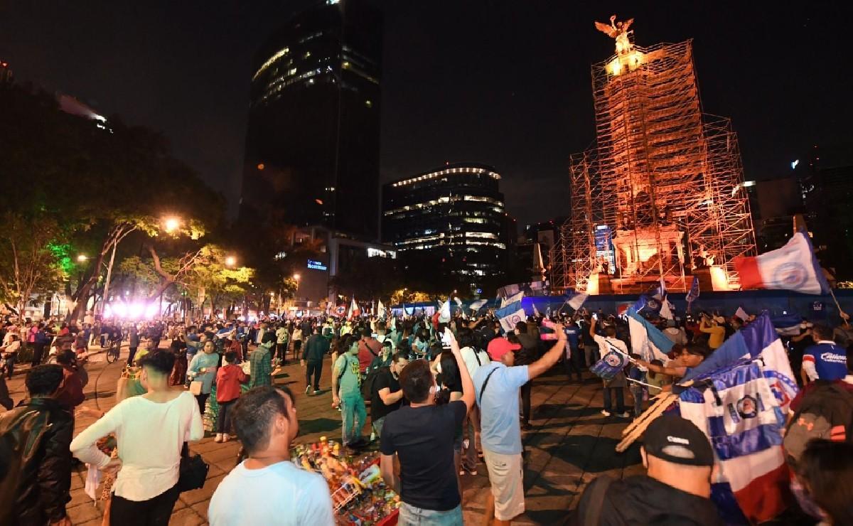 Festejo del Cruz Azul congregó a 80 mil personas en el Ángel de la Independencia: Sheinbaum