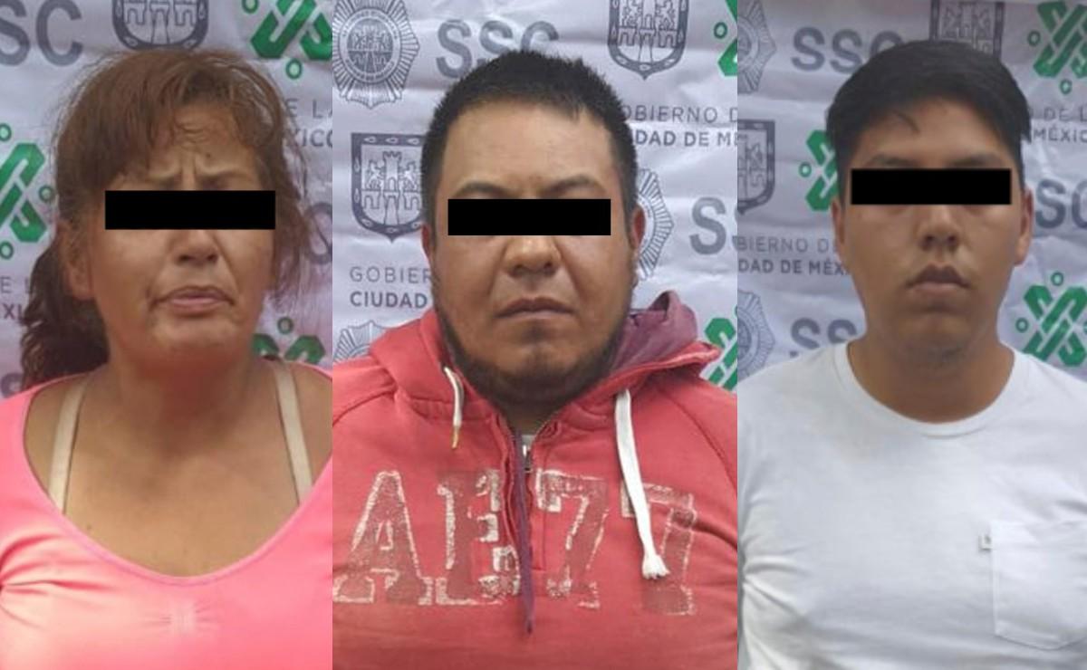 Cae un trío mientras vendía droga en calles de la alcaldía Venustiano Carranza