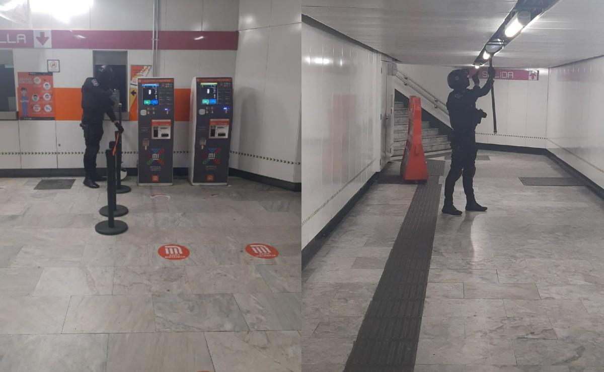 Cierran estación Boulevard Puerto Aéreo de la L1 del Metro por supuesta amenaza de bomba