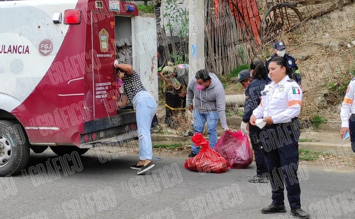 Policías estatales detienen a hombre con una cabeza humana en el Estado de México