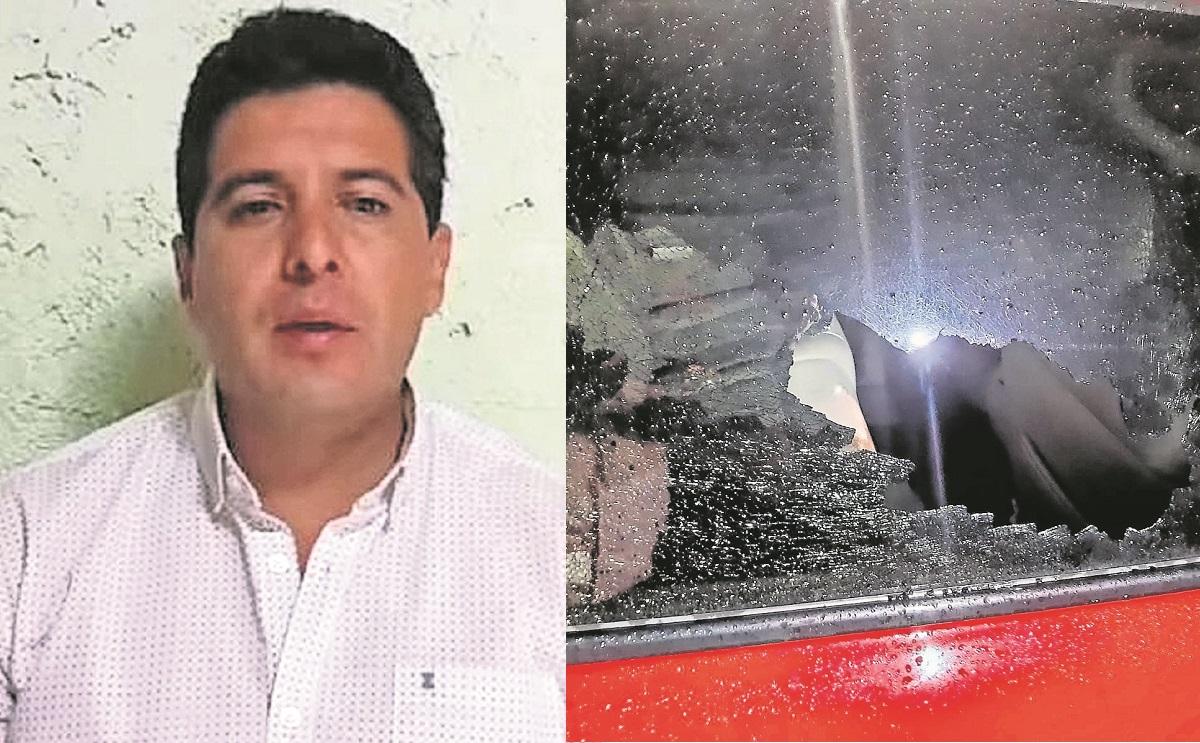 Candidato a la alcaldía de Ixtlahuaca denuncia ataque, balearon su camioneta