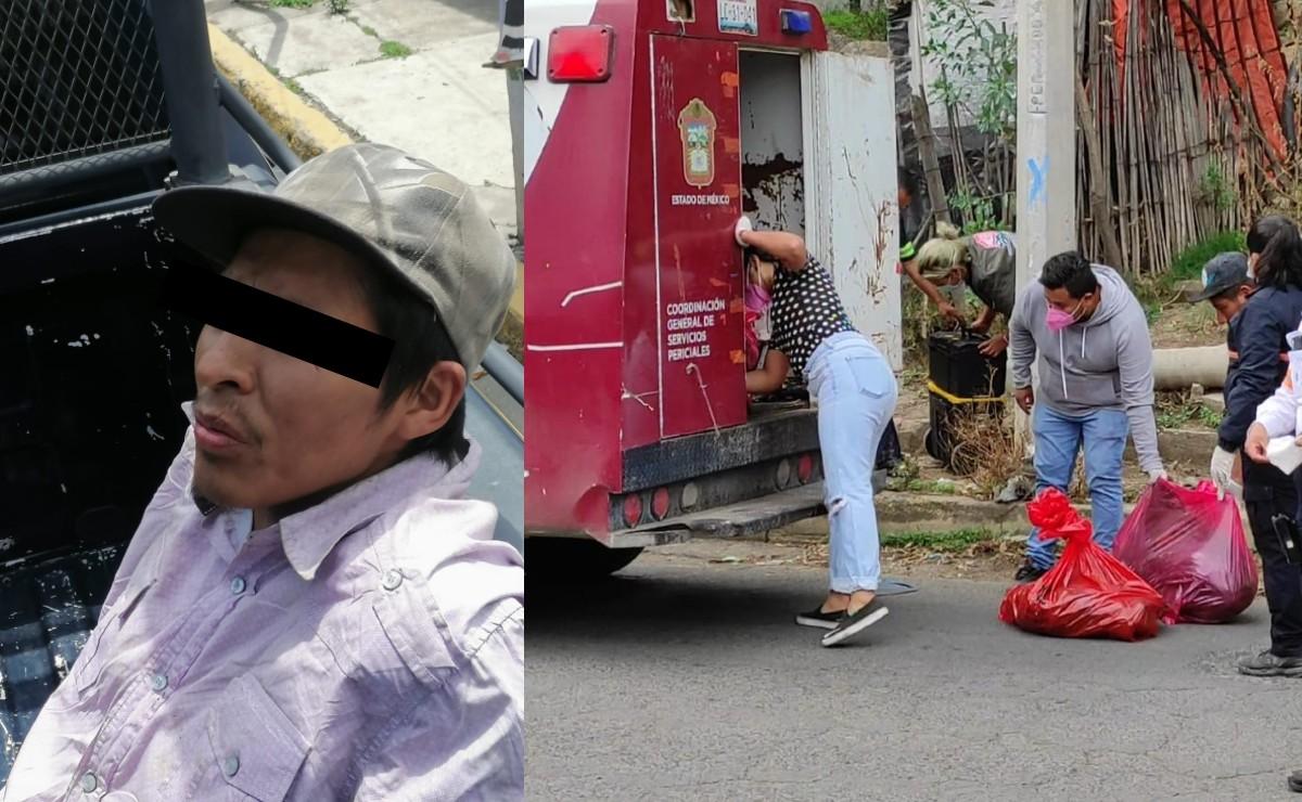 Deja bolsas con retazos humanos descompuestos en Valle de Chalco, y avienta la cabeza en mochila