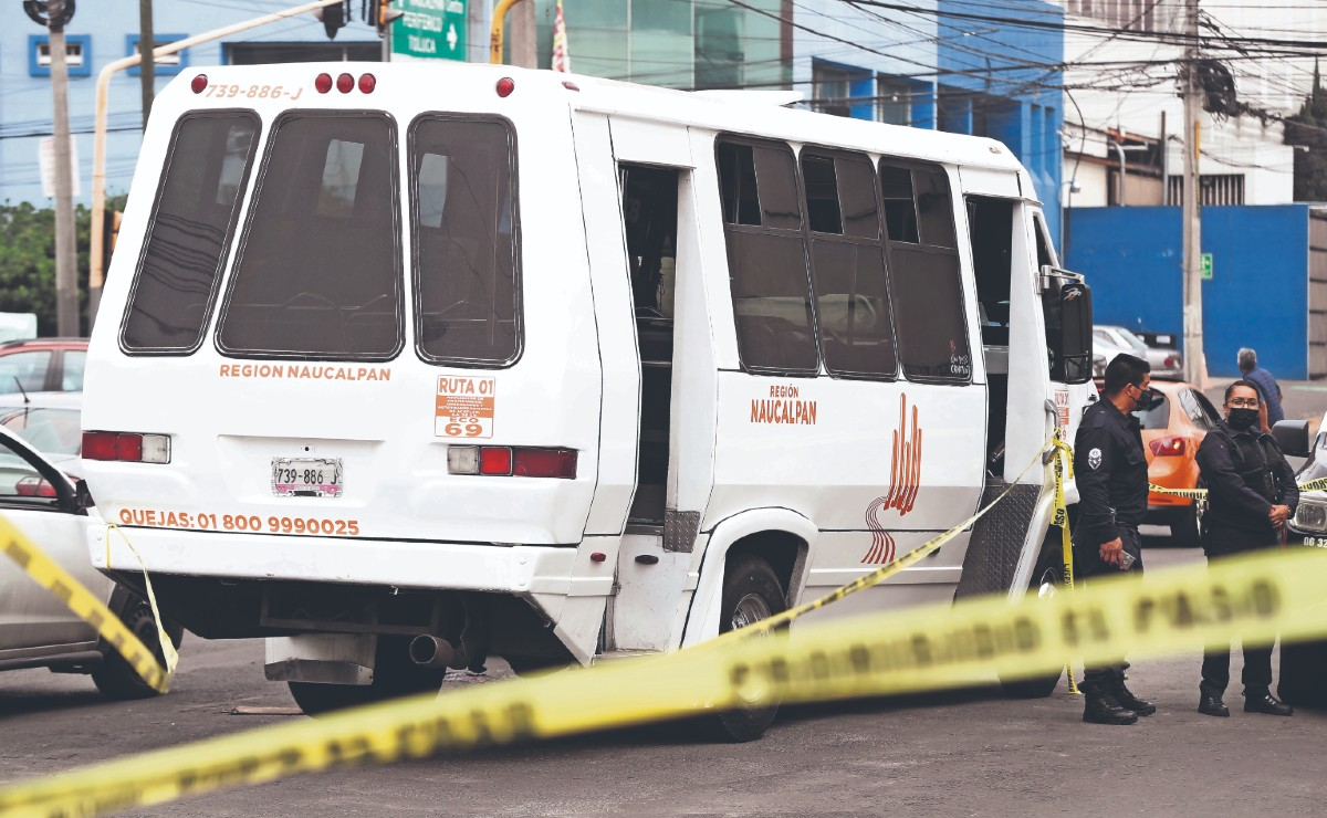 Matan a chofer de transporte público en Naucalpan, el miércoles ejecutaron a otro en Neza