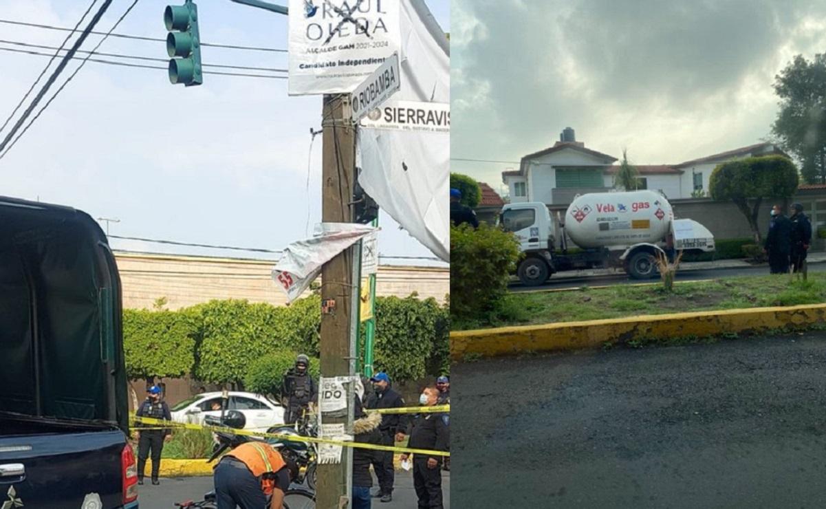 Pipa de gas embiste a ciclista en la Gustavo A. Madero, iba a exceso de velocidad