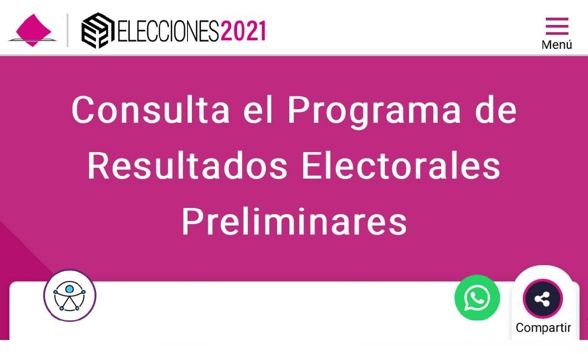 Así van los resultados preliminares de las elecciones, detalla el INE